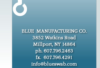 Blue Manufacturing Company - Glass Industry Cotton Swabs